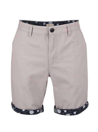 Pantaloni scurți gri Bellfield Walton cu tiv colorat