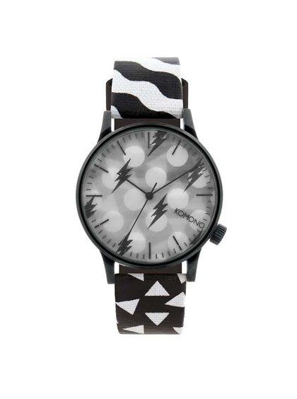 Černo-bílé pánské hodinky Komono Winston Black & White