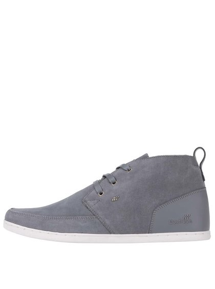 Sivé kožené členkové topánky Boxfresh Symmons