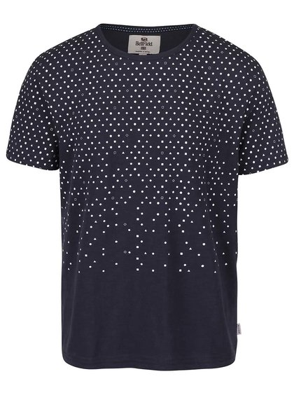 Tricou albastru închis Bellfield Pascha cu efect de ombre