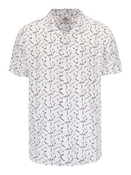 Krémová košeľa s potlačou Bellfield Willems