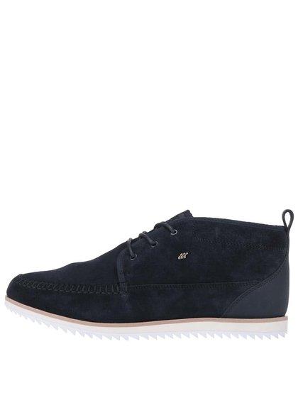 Modré kožené kotníkové boty Boxfresh Clyston