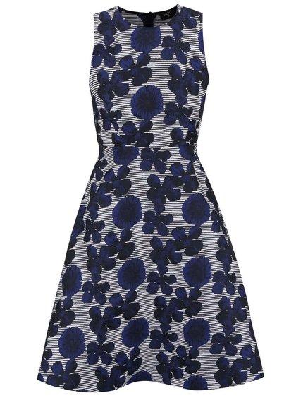 Modré šaty s květovaným vzorem AX Paris
