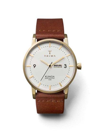 Hnedé unisex kožené hodinky TRIWA Ivory Klinga