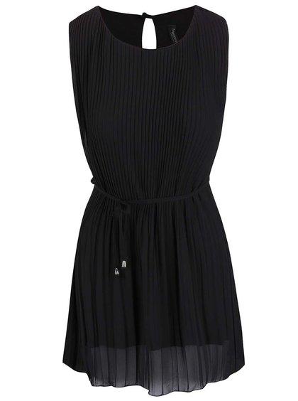 Čierne plisované šaty Madonna