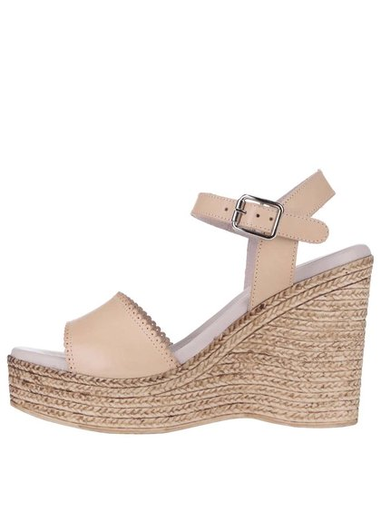 Sandale OJJU din piele, roz deschis