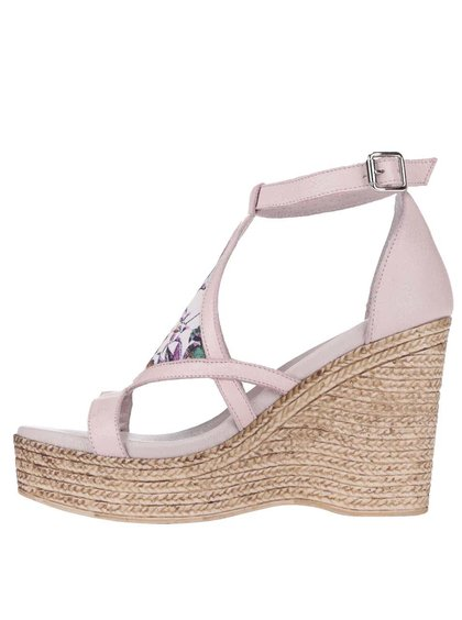 Sandale OJJU cu platformă, roz deschis