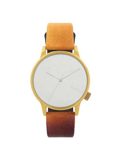 Unisex hodinky ve zlaté barvě Komono Winston by René Magritte
