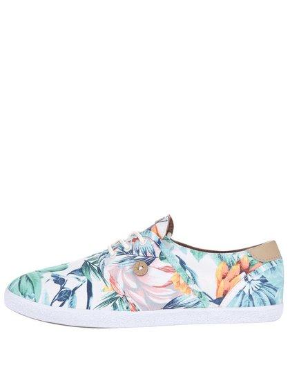 Farebné dámske plátenné tenisky s potlačou kvetov Faguo Cypress