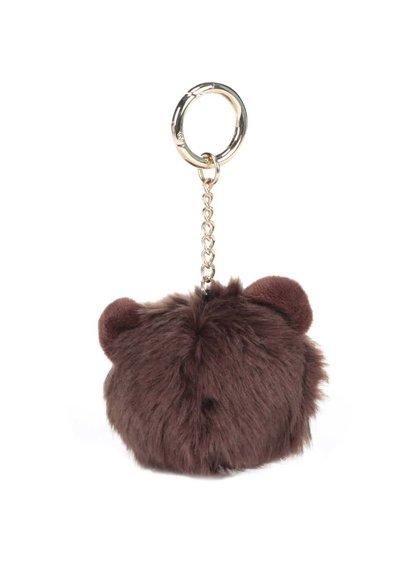 Hnědý přívěsek na klíče ve tvaru opice Dorothy Perkins