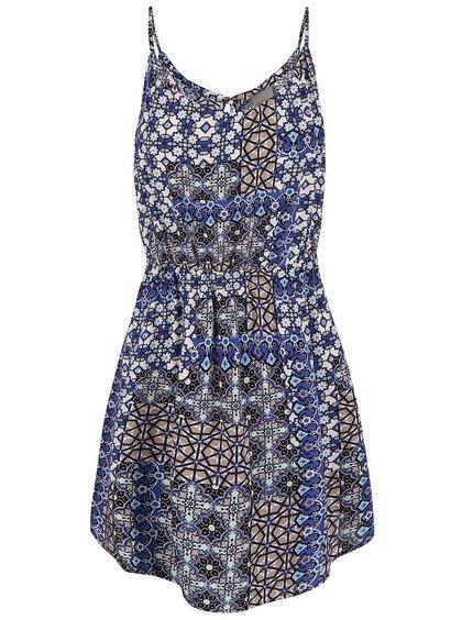 Krémovo-modré květované šaty na ramínka VERO MODA Super