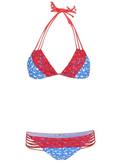 Costum de baie Relleciga roșu-albastru