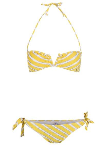 Costum de baie Relleciga alb-galben