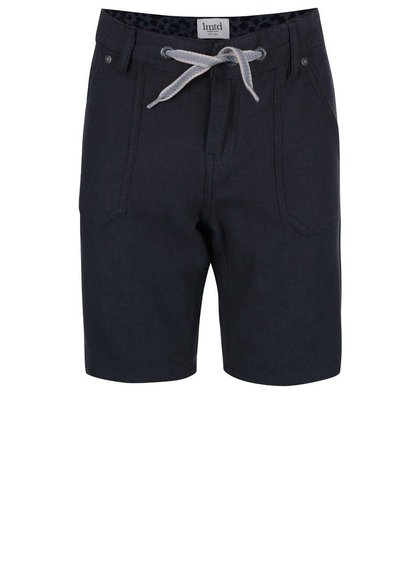 Tmavomodré chlapčenské šortky nad kolená name it Isac