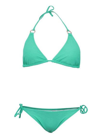 Zelené plavky so zlatými krúžkami Relleciga Cherry