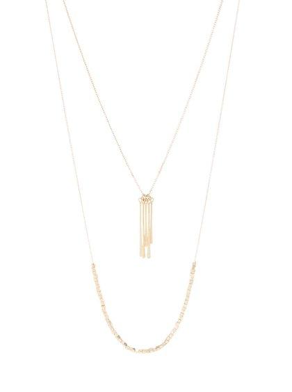 Kaskádovitý náhrdelník ve zlaté barvě Pieces Bolissa