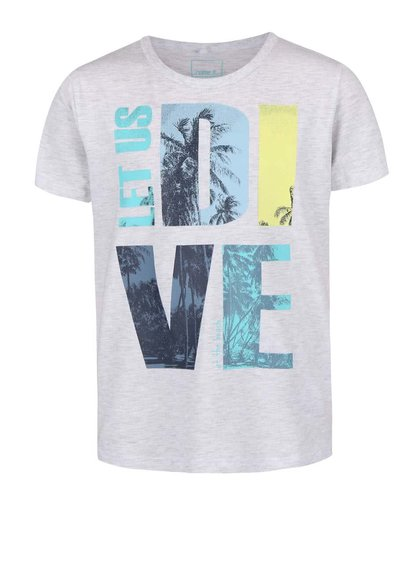 Sivé chlapčenské tričko s nápisom name it Vronny