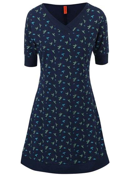 Tmavě modré šaty s ptáčky Tranquillo Tammy