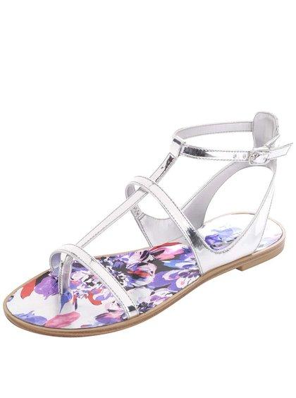 Remienkové sandále v striebornej farbe ALDO Tiphanie