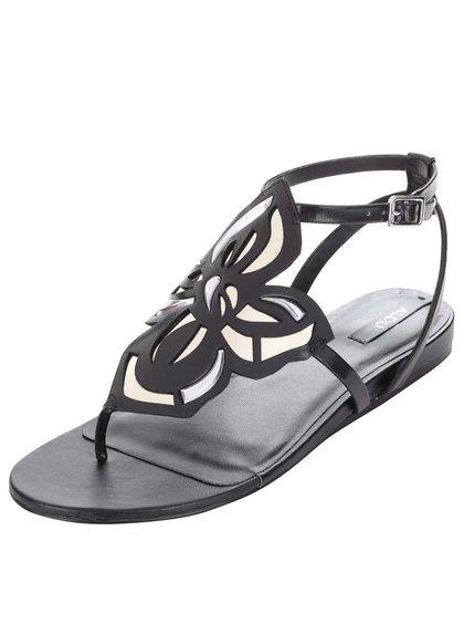 Černé sandály s květinovým zdobením ALDO Kyara