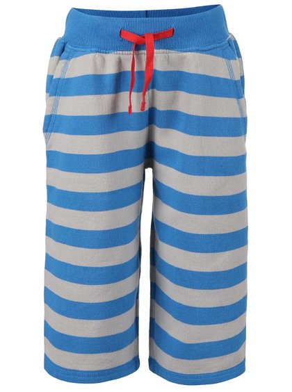 Pantaloni trei sferturi Frugi Samson albaștri cu dungi