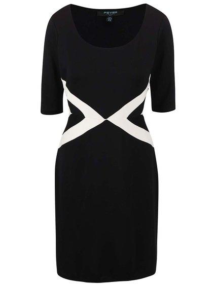 Krémovo-černé šaty Fever London Quebec