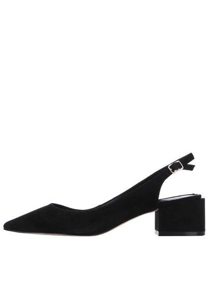 Čierne semišové sandále s plnou špičkou ALDO Shirleys