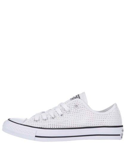 Biele perforované dámske tenisky Converse Chuck Taylor All Star