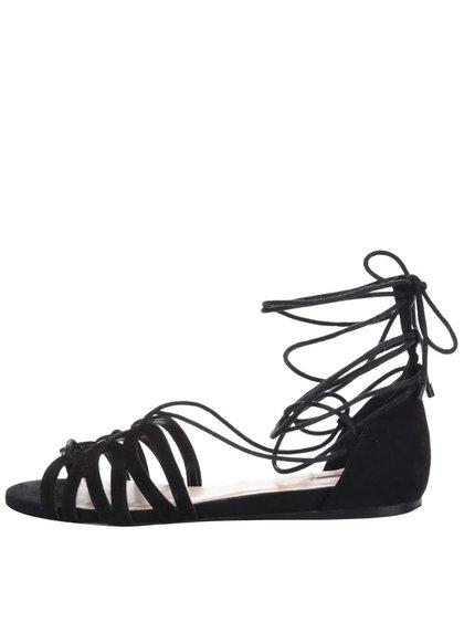 Čierne semišové sandále so šnurovaním ALDO Elireven