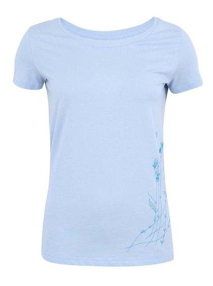 """""""Dobré"""" modré dámske tričko s potlačou pre Auto*Mat"""