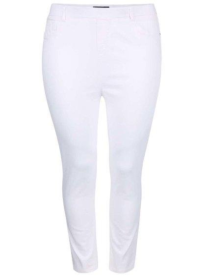 Pantaloni capri Dorothy Perkins Curve albi