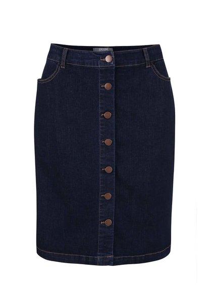 Modrá rifľová sukňa na gombíky Dorothy Perkins