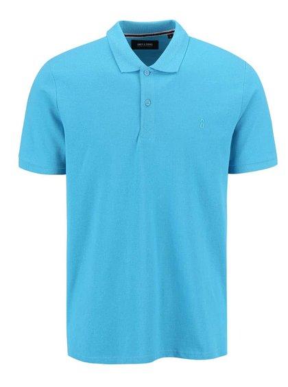 Modré polo triko ONLY & SONS Pique