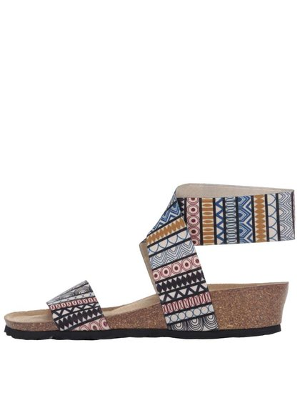 Farebné dámske vyššie sandále so vzorom OJJU
