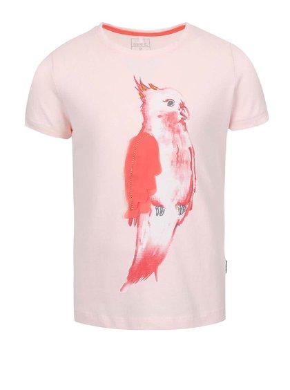 Růžové holčičí tričko s papouškem name it Tilaya