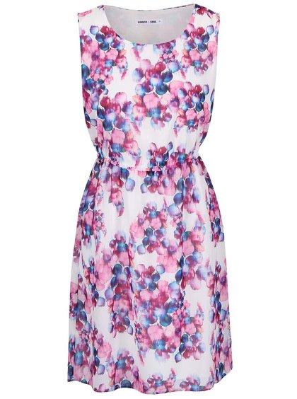 Růžovo-bílé vzorované šaty GINGER+SOUL