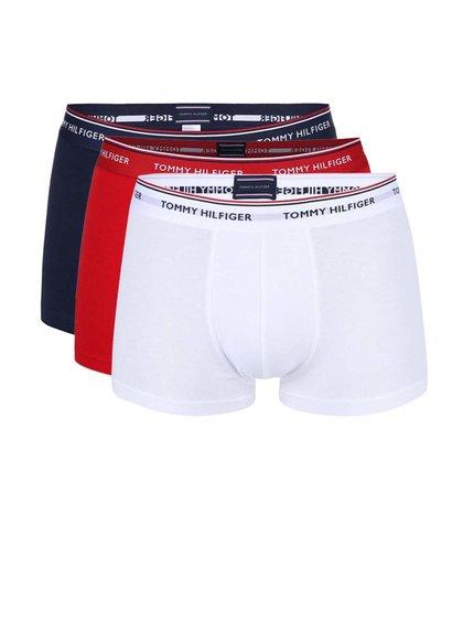 Súprava troch boxeriek v bielej, červenej a modrej farbe Tommy Hilfiger