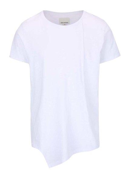 Bílé delší asymetrické tričko Shine Original Long Oversize