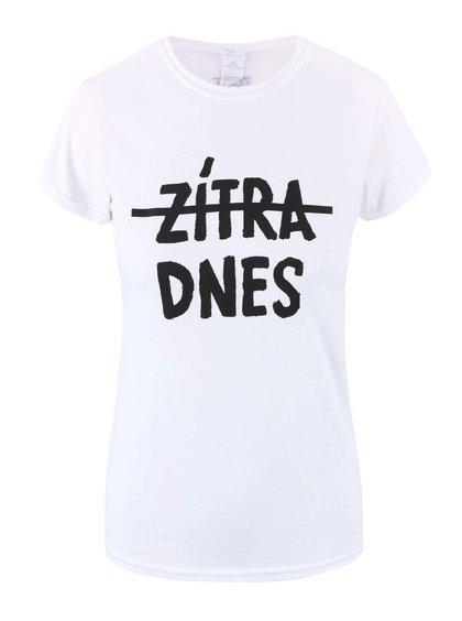 Bílé dámské tričko ZOOT Originál Zítra, dnes