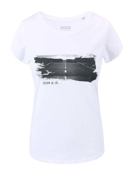 Bílé dámské tričko ZOOT Originál Cesta je cíl