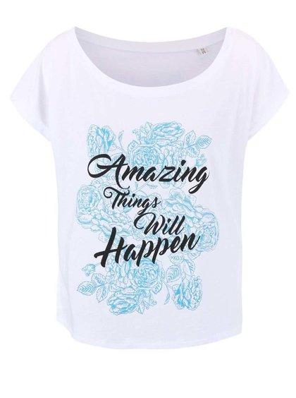 Bílé dámské volnější tričko ZOOT Originál Amazing Things