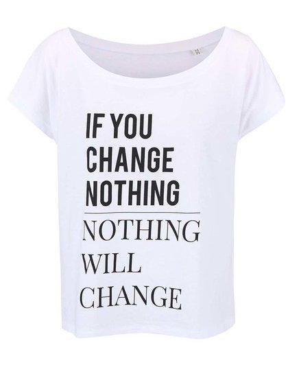 Bílé dámské volnější tričko ZOOT Originál Change