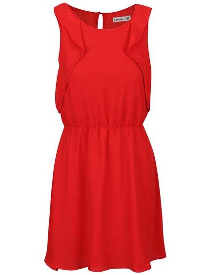 Červené šaty s volánmi Lavand