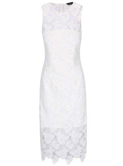 Rochie midi AX Paris albă din dantelă