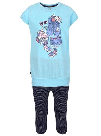 Set colanți și tricou de fete North Pole Kids albastru