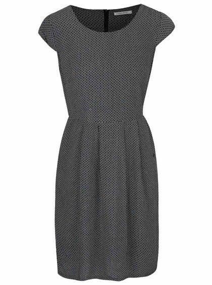 Černé vzorované šaty Zabaione Kleid Kathy