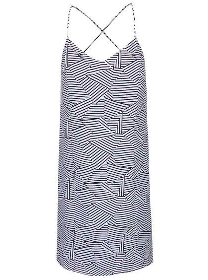 Bílé vzorované šaty na ramínka ICHI Bess
