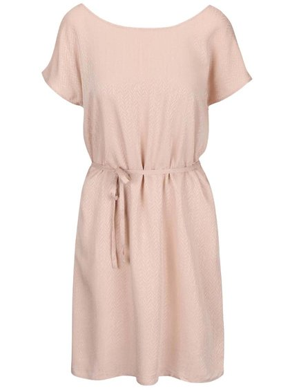 Starorůžové volnější šaty s páskem ICHI Cece