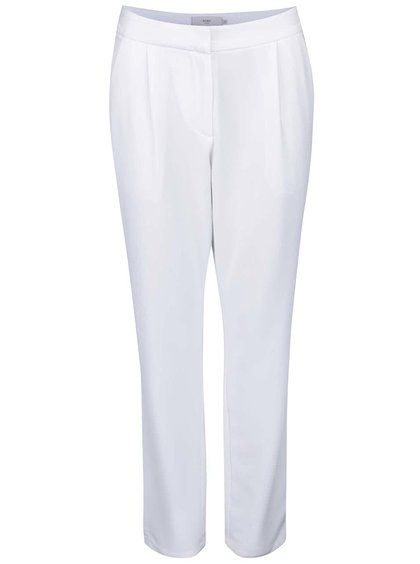 Bílé kalhoty rovného střihu ICHI Sirit