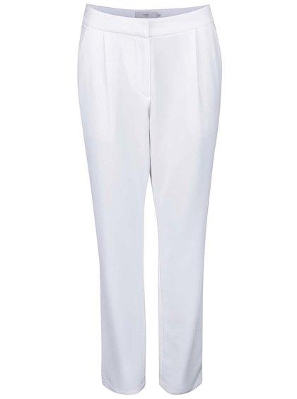 Biele nohavice rovného strihu ICHI Sirit